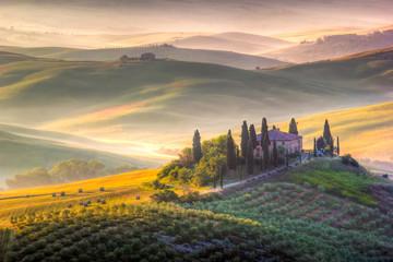 Foto op Plexiglas Zalm Tuscan Morning