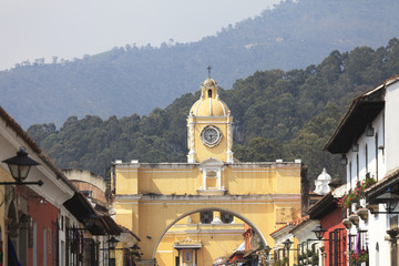 Colonial buildings in Antigua, Guatemala