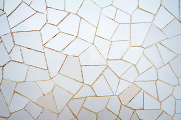 White ceramic mosaic pattern in the park Guell Wall mural