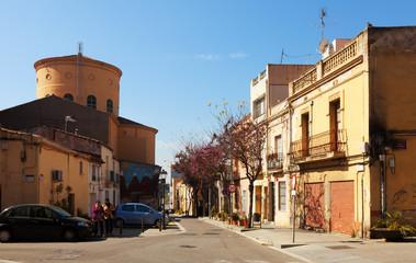Urban view with church. Sant Adria de Besos