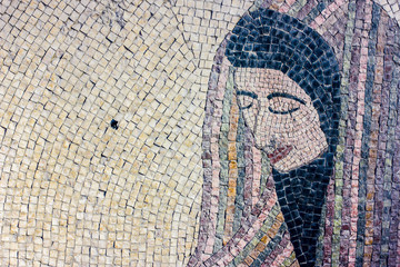 Mosaic: jordanian woman