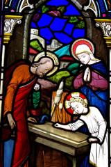 Young Jesus as a carpenter