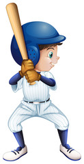A young male baseball player