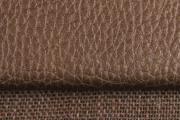 Wall Mural - Natural brown leather