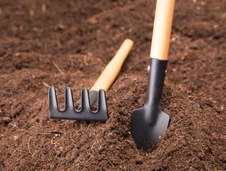 Garden Tools on Soil