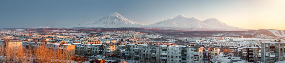 Petropavlovsk-Kamchatsky cityscape. Far East, Russia