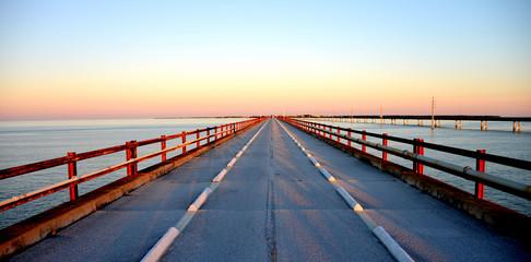 Sunset over Seven Miles Bridge