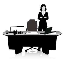 business woman in the workplace
