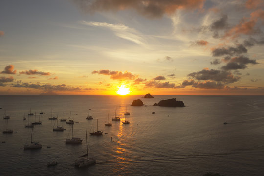 Sunset at Gustavia Harbor, St. Barts, French West Indies