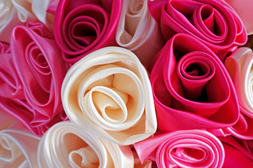 Roses made from fabric