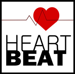 heart beat healthy graphic design