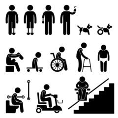 Amputee Handicap Disable People Man Tool Equipment