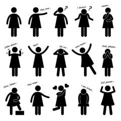 Woman Girl Female Basic Body Language Posture