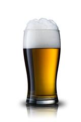 Beer splash from glass