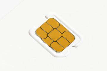 Nano sim card blank on white background