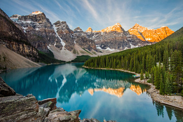 Poster Mountains Moraine lake