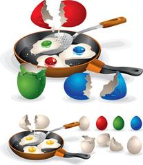 Easter Fried Eggs