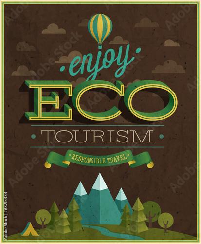 Wall mural Eco Travel poster. Vector illustration.