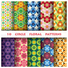 Circle floral Pattern Style