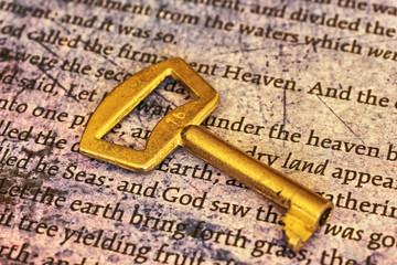 Key on bible