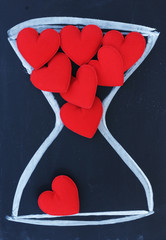 fabric heart  in hourglass