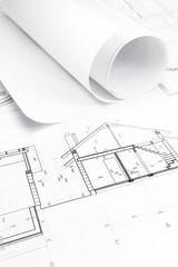 Blueprints for house construction