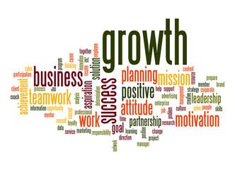 Growth word cloud