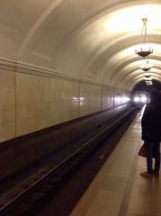 прибытие поезда в метро