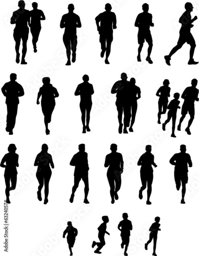 Wall mural SILHOUETTEES SPORTIVES