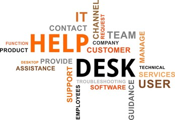 word cloud - help desk
