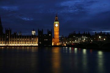 Westminster Palace at night