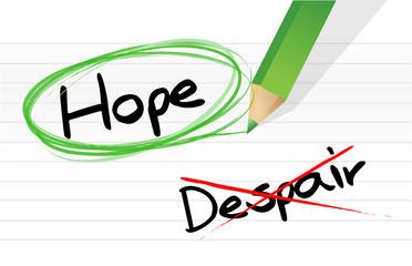 hope over despair illustration design