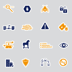 computer security stickers eps10