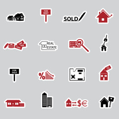 real estate stickers eps10