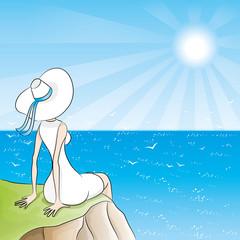 Summer illustration.