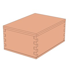 cartoon image of wooden box