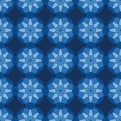 abstract seamless light blue star kaleidoscopic pattern