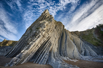 Flysch Zumaia Basque Country Spain Wall mural