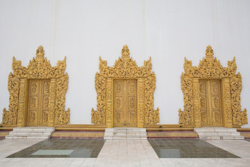 door of Atum Ash Kyaung temple