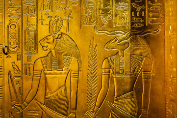 Relief with egypt gods