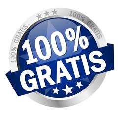 """Button mit Banner """" 100% GRATIS """""""