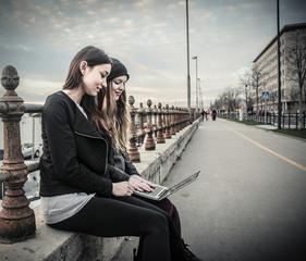 typing girls