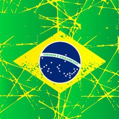 brasilian flag vector illustration
