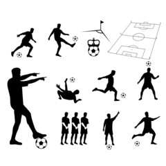 football player vector silhouette
