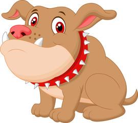 Cute bulldog cartoon