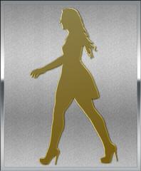 Gold on Silver Modelling Emblem
