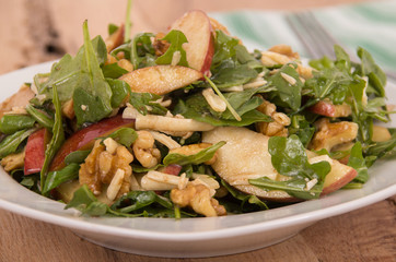 healthy apple and nut salad