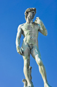 Statue of David, located in Micheal Angelo Park Florence, Italy