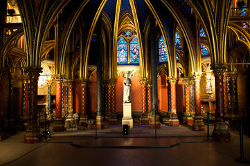 Paris, France, Saint Chapel, the statue of Luigi IX, King of Fra