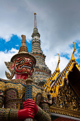 giant sculpture in Wat Phra Kaew Temple, Thailand